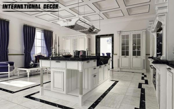 Art Deco kitchen designs and furniture, white kitchen