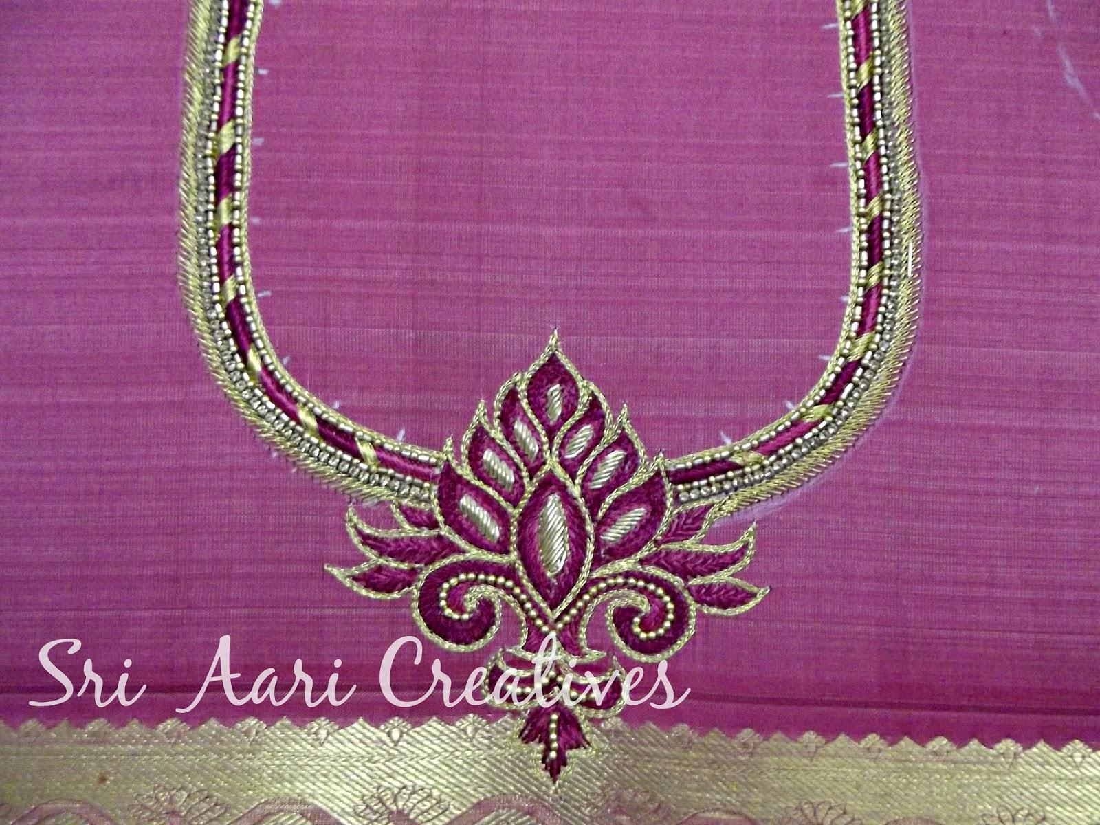 Sri aari creatives embroidery simple designs