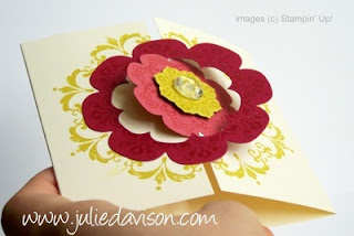 Stampin' Up! Daydream Medallions Floral Framelits Card