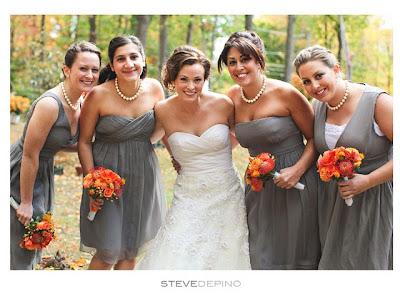 Semplicemente perfetto wedding planner matrimonio arancione grigio elegante