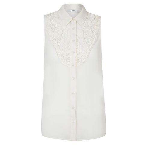 crochet insert blouse