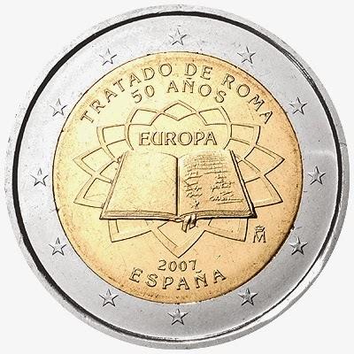 2 euro coins Spain 2007, Treaty of Rome