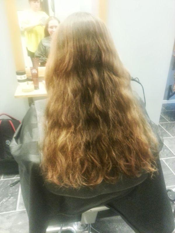 fint lockigt hår