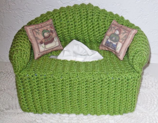 Free Crochet Pattern For Sofa Tissue Box Cover : Cottage Crafts: Time for Crochet........