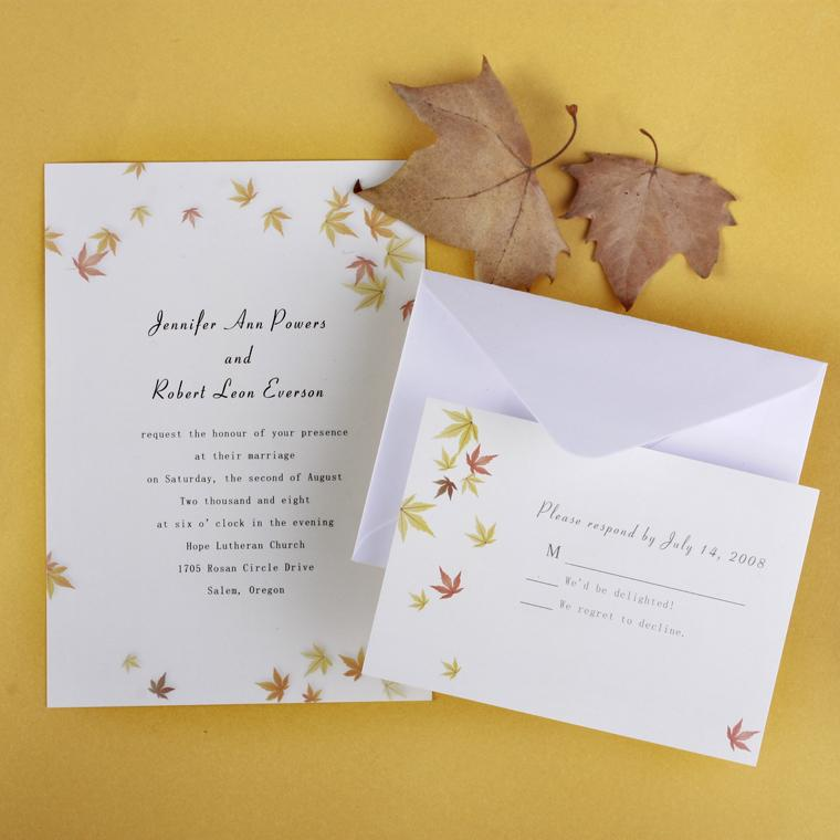 Top 5 Autumn/Fall Wedding Invitation Ideas