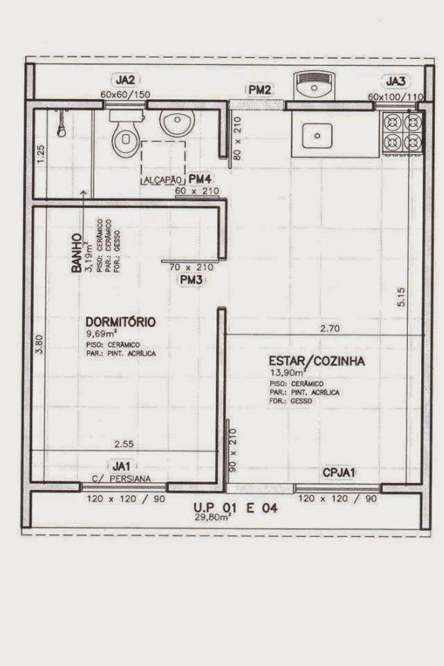 Plantas de casas em u fi76 ivango for Casa clasica procrear 1 dormitorio