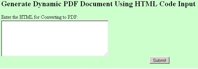 Java Dynamic HTML to PDF Converter