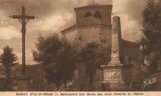 CPA monuments aux Morts du Puy-de-Dôme, Marat