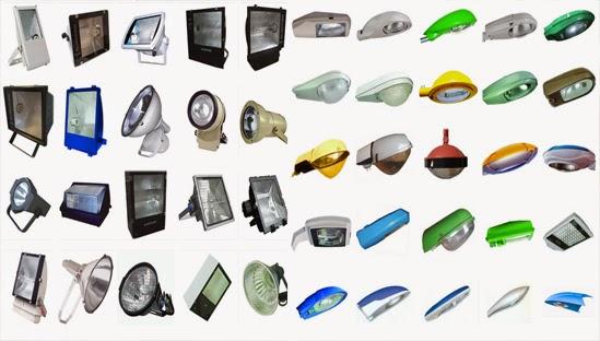 Một số loại đèn chiếu sáng ngoài trời
