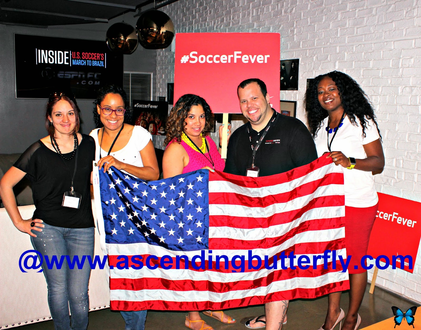 #VZWBuzz #SoccerFever Soccer Viewing Party at Samsung Galaxy Studio in SoHo New York