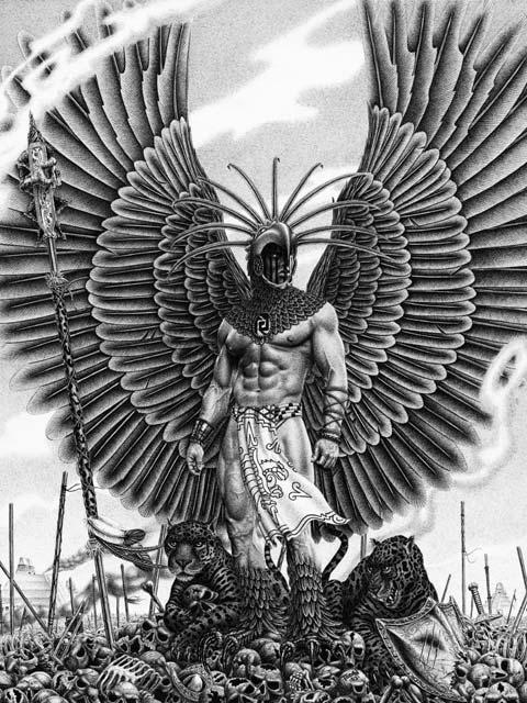 Girl Quetzalcoatl Tattoo Aztecs