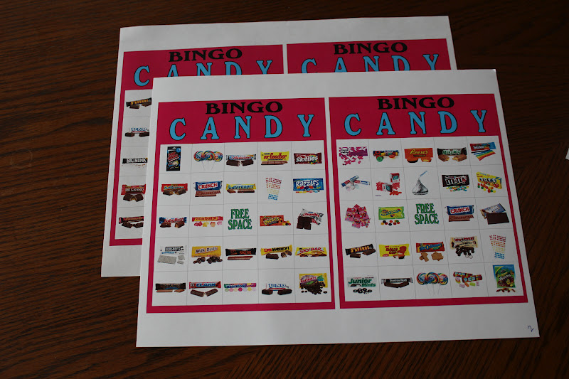 Candyland or teen party with this candy bingo game printable