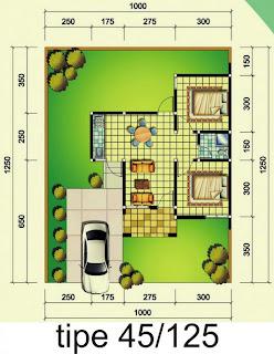 denah rumah tipe 45 125 kumpulan desain denah rumah minimalis type 45