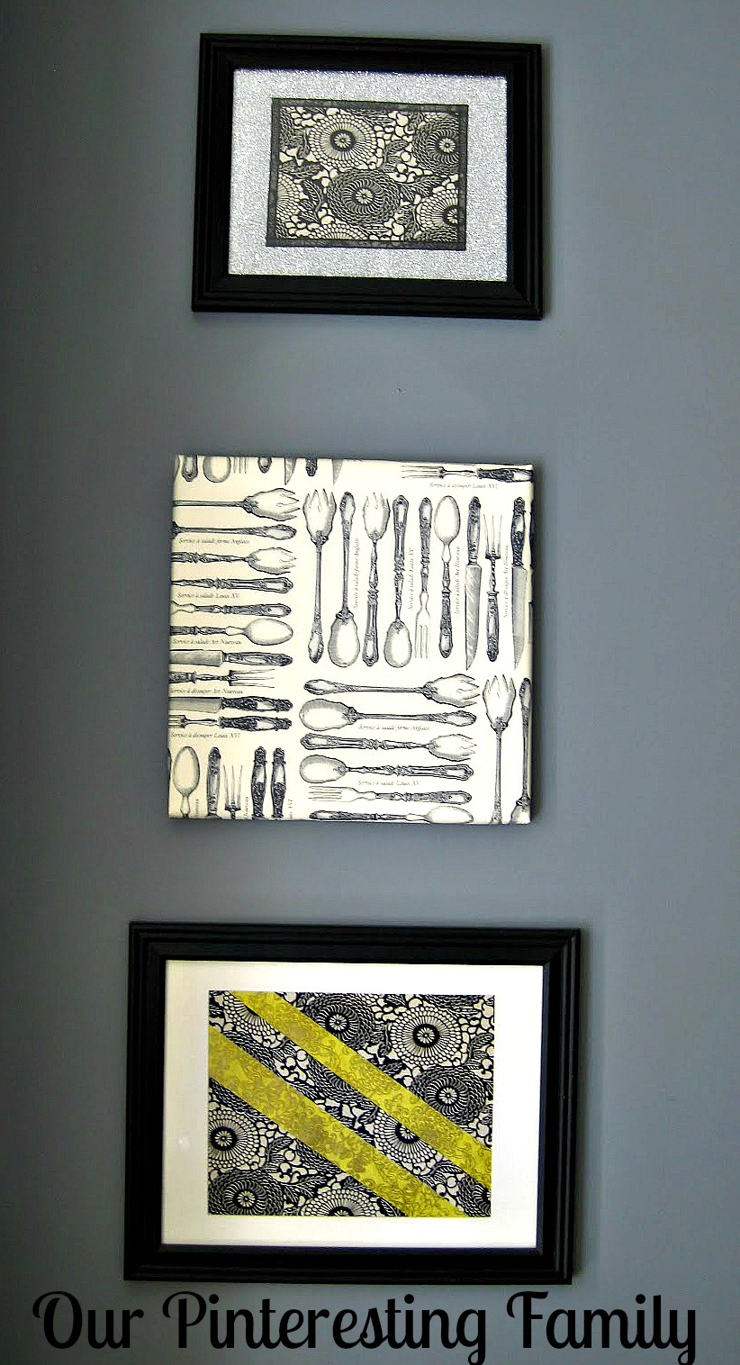 Wall Art Using Paper : Our ing family wall decor using paper by amy chris