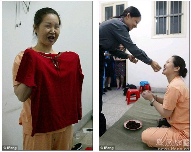 : Dai Donggui tries on an outfit for her to wear before her execution