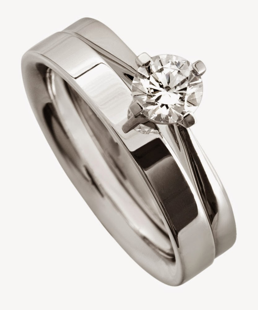 Women's Wedding Ring Sets Stainless Steel with Diamond Design pictures hd