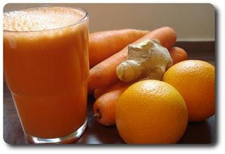 عصير الجزر والبرتقال صحى ولذيذ للريجيم