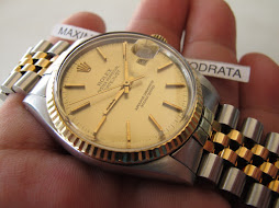 SOLD ROLEX OYSTER PERPETUAL DATEJUST - ROLEX 16013 GOLD DIAL