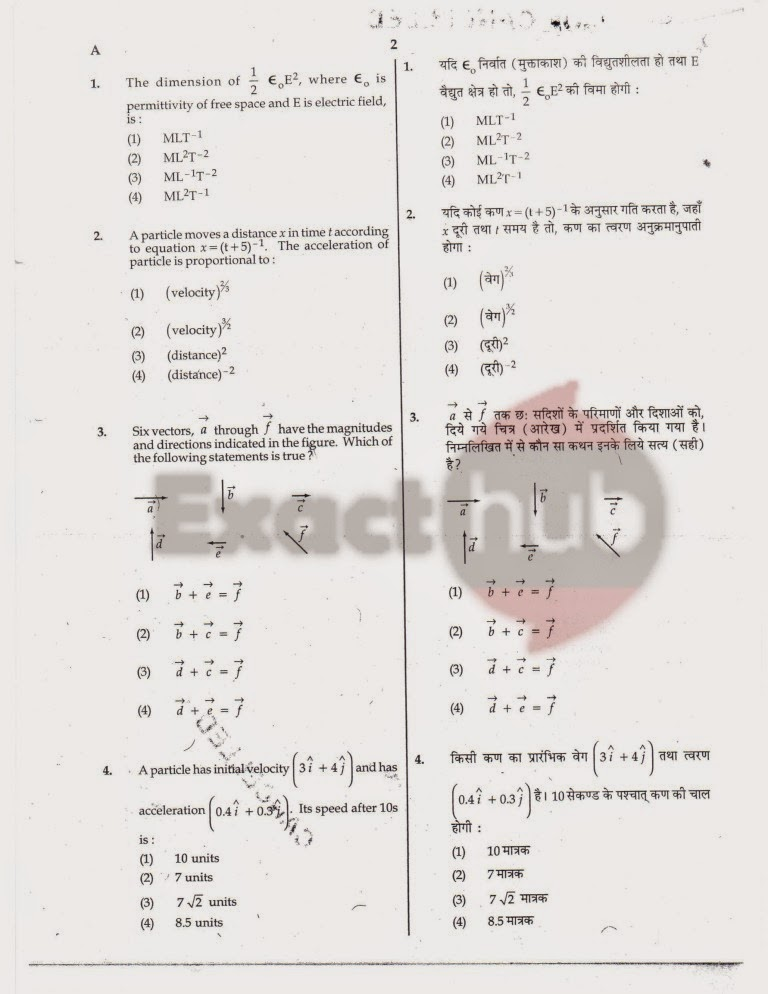 AIPMT 2010 Exam Question Paper Page 02
