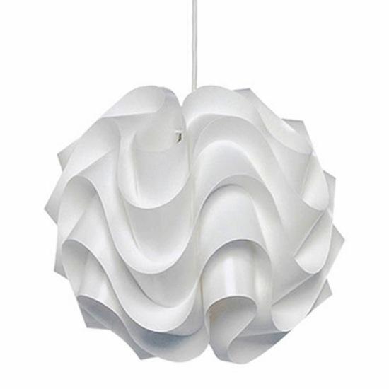 white modern pendant light
