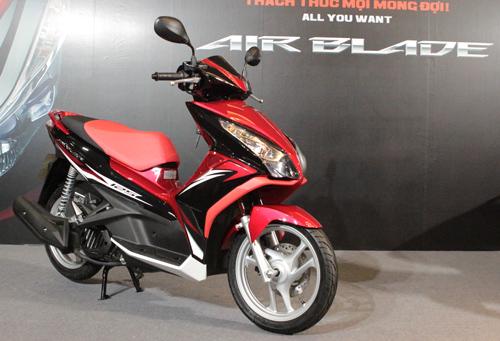 Air Blade 125 màu đỏ đen,Honda Air Blade 125 màu đen đỏ