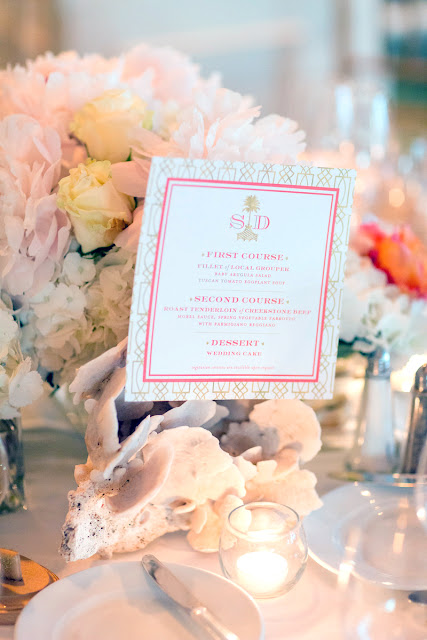 Coastal Chic Wedding Menu