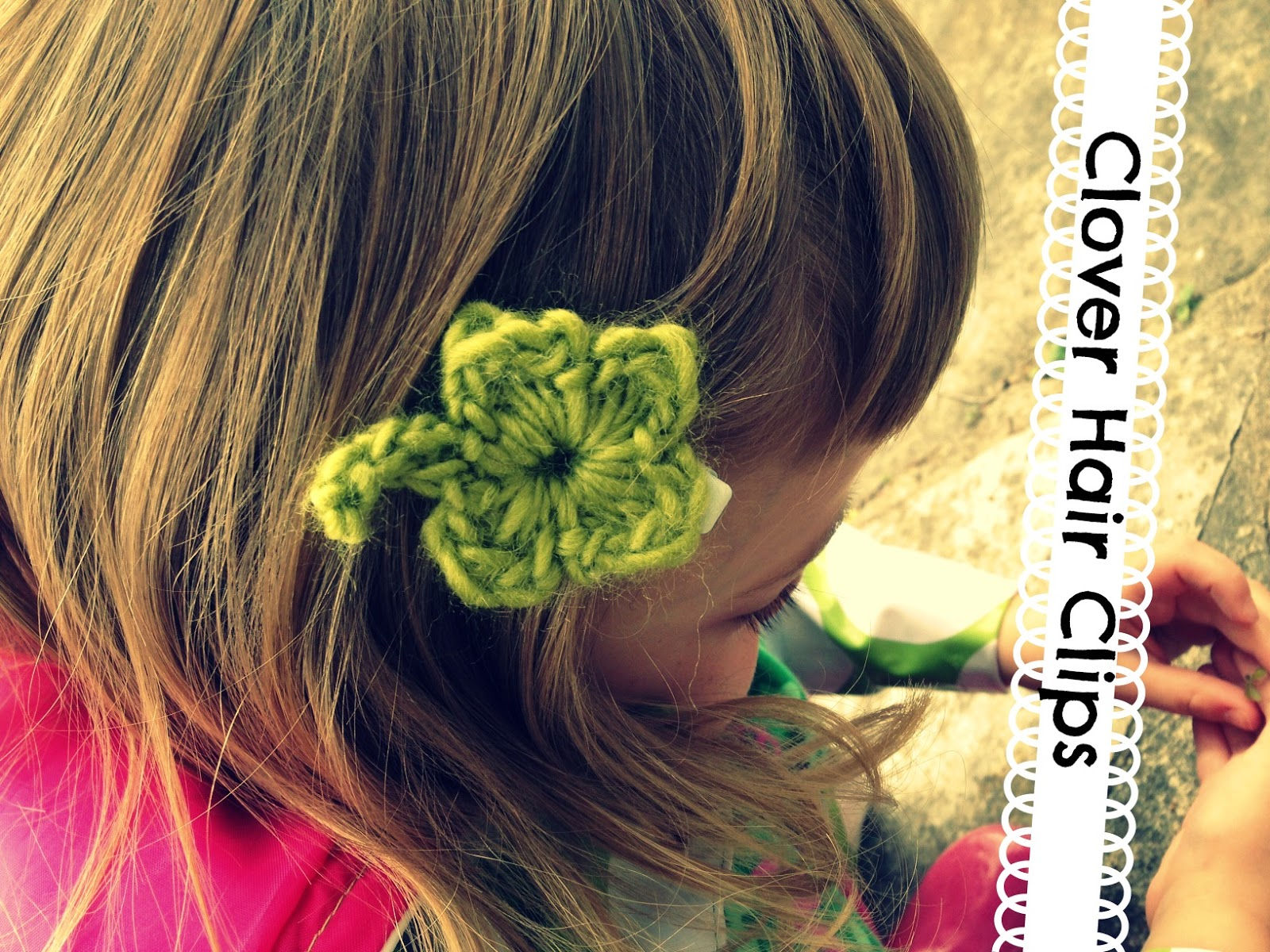 Free Pattern Clover Hair Clips Vickie Howell