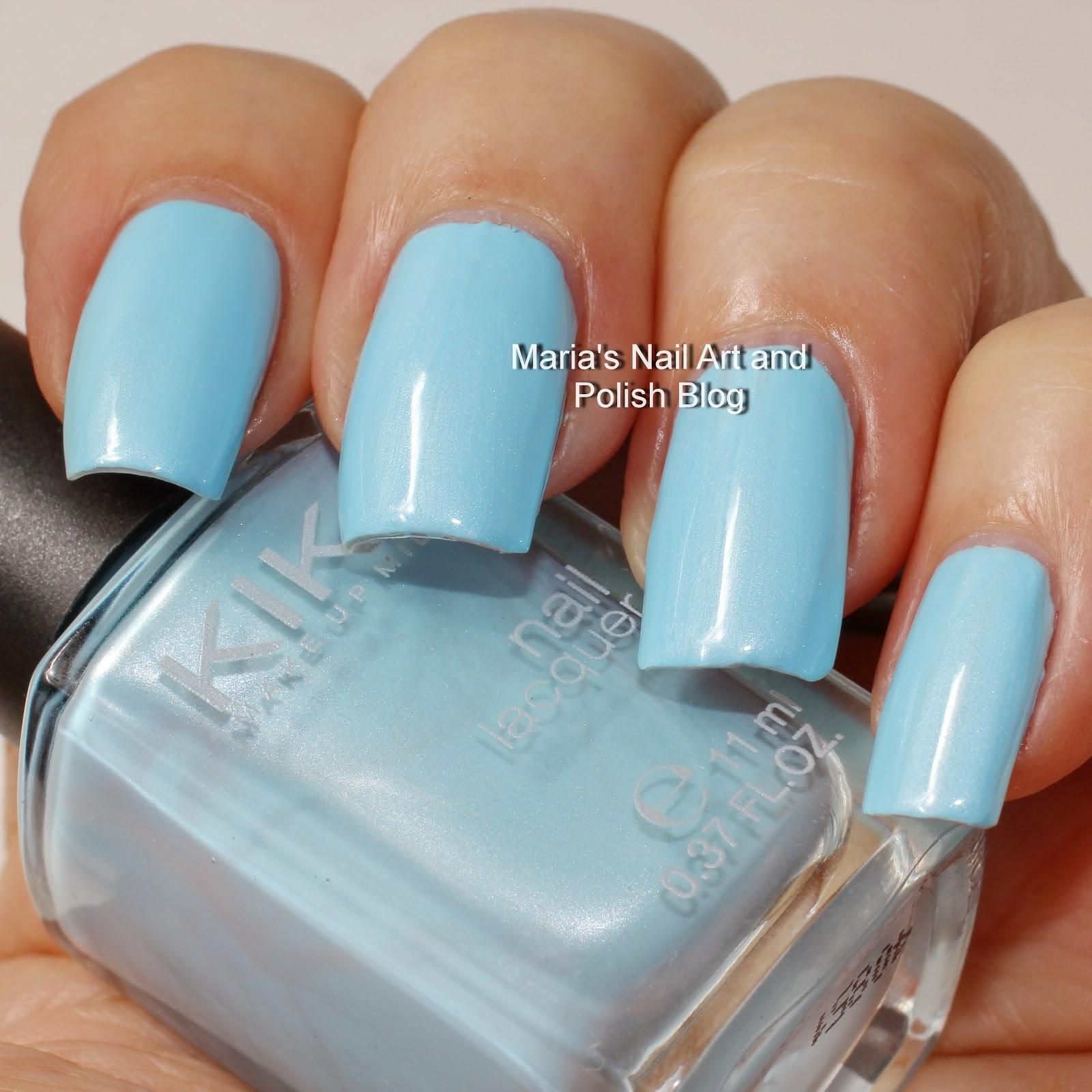Marias Nail Art And Polish Blog: Kiko 525 Metallic Pastel