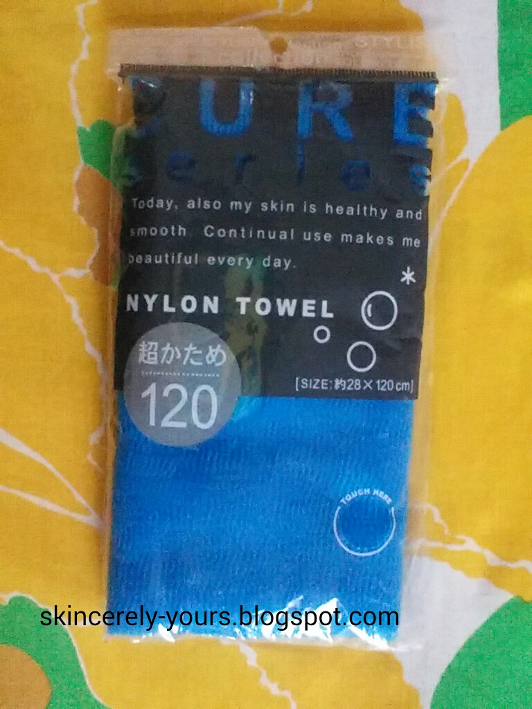 Skincerely Yours: CURE Series Japanese Exfoliating Bath Towel