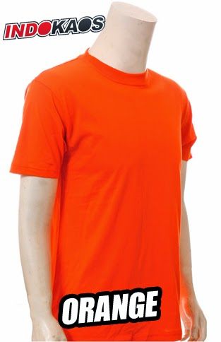 Kaos Polos Orange