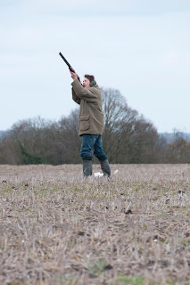 clay pigeon shoot photography in Norfolk