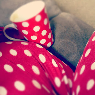 spotty pjs and mug