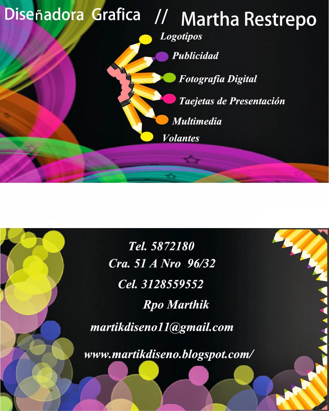 martika diseño: tarjeta de presentacion