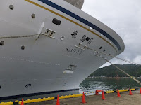 クルーズ船の船内見学を身近に感じてもらうために催された。