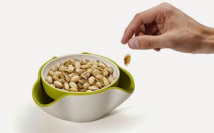 Diseños ingeniosos que podrían hacerte la vida más fácil, plato doble para apetitivos
