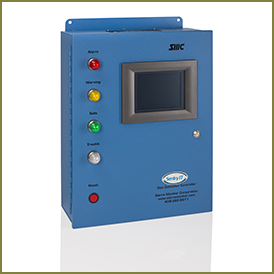 Hazardous gas detection monitoring unit