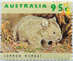 Wombat Stamp First Class