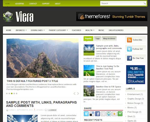 Viera Blogger Theme