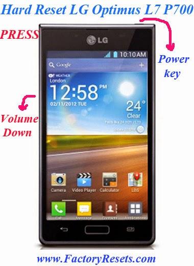 Hard Reset LG Optimus L7 P700