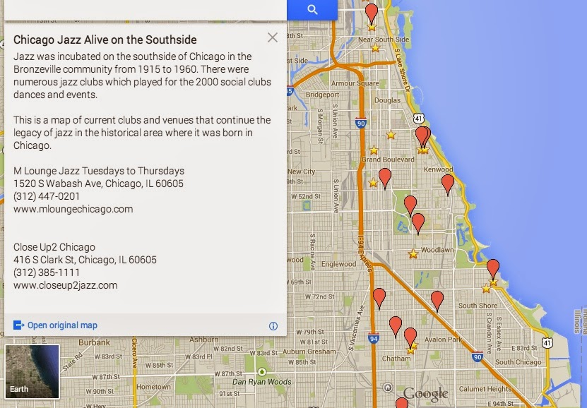 Chicago Jazz Alive on the Southside Map