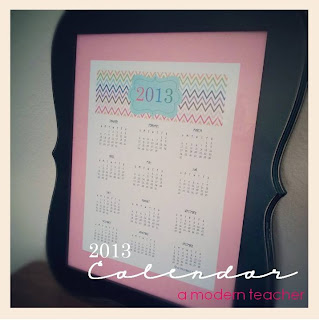 Free 2013 Calendar www.amodernteacher.com