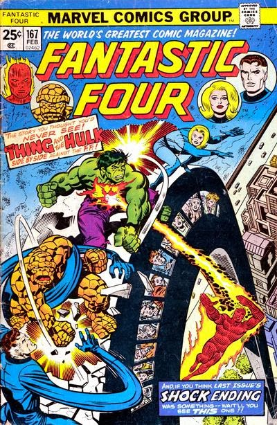 Fantastic Four #167, the Hulk and the Thing
