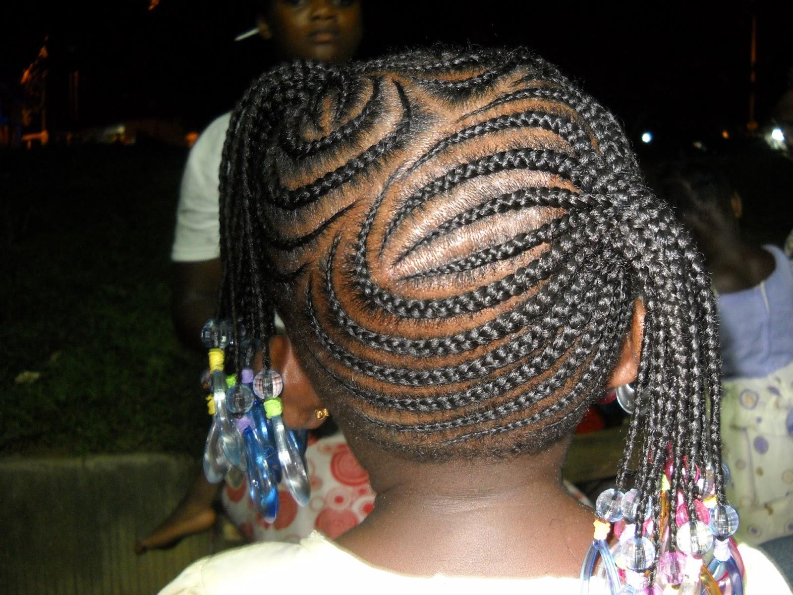 Michou coiffures africaines - Coiffure enfant tresse ...