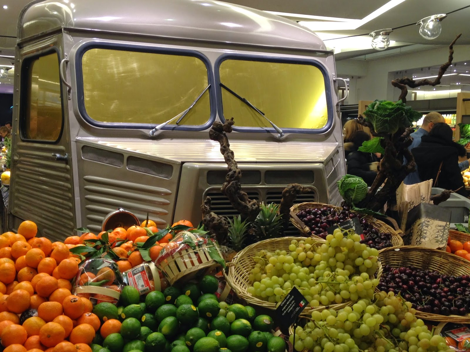 Produce truck at La Grande Epicerie de Paris