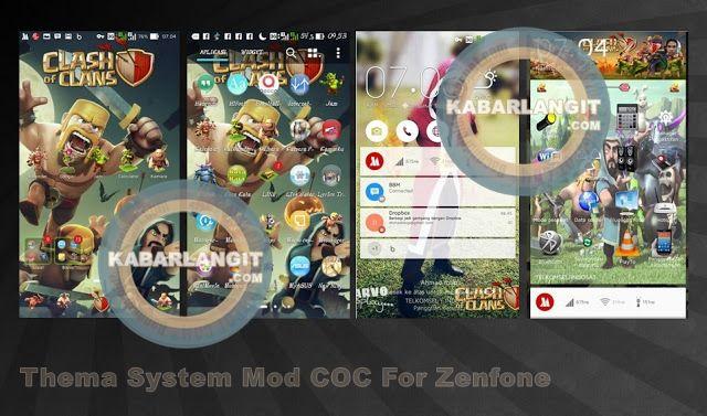 Cara Mengganti Tema System Asus Zenfone dengan skin COC Mod