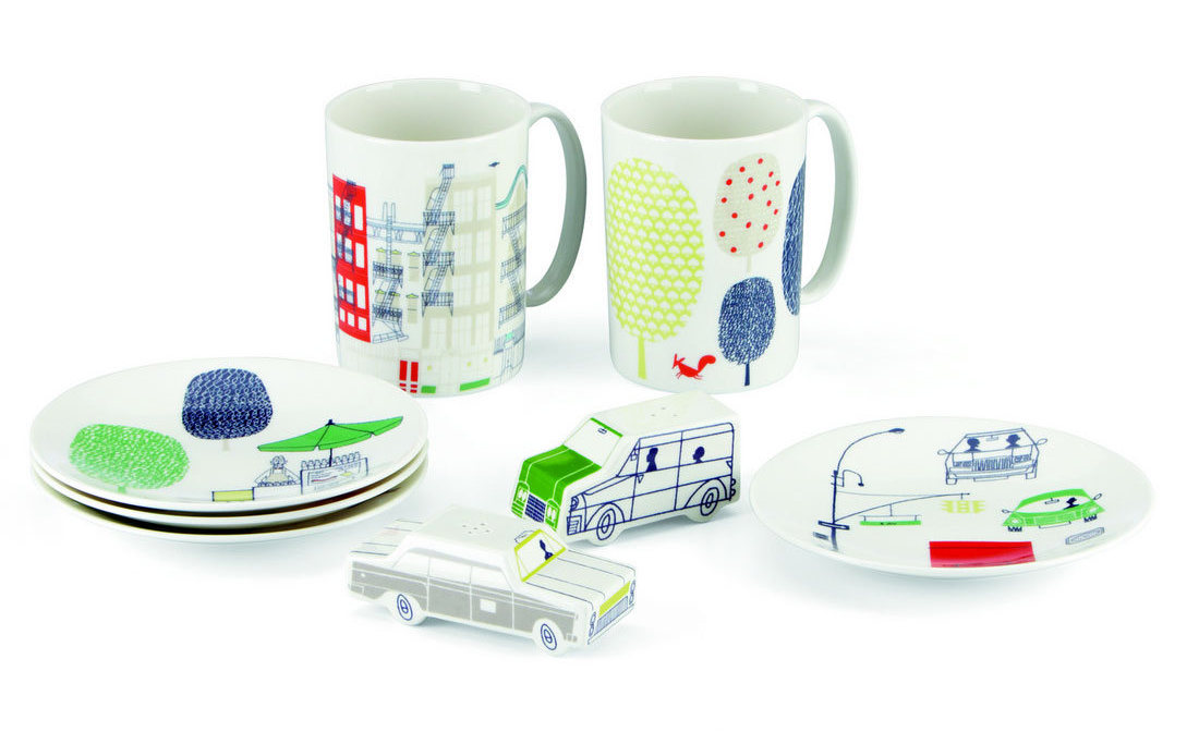 The zigzagging ...  sc 1 st  Librarian Tells All & Librarian Tells All: Kate Spade\u0027s About Town Dinnerware Is So Cute ...