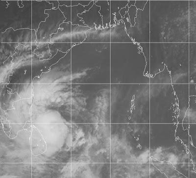Ciclón Nilam 31 de Octubre 2012