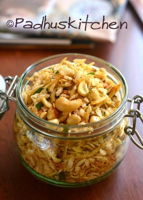 Aval Mixture-Poha chivda-Easy Diwali Snacks