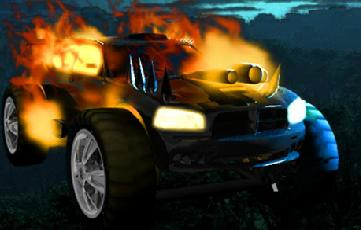 Ateşli Zombi Jipi
