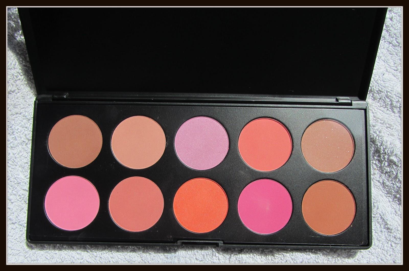 BH Cosmetics Nude Blush 10 Color Palette Delightful Beauty